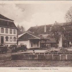 Carte postale ancienne du château et du moulin